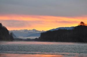 Skagit River Sunrise 1 October 30, 2013